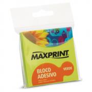 Bloco Adesivo 76mm x 76mm Verde Neon Maxprint