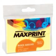 Bloco Adesivo Maxprint 38 X 50mm com 4 Unidades Amarelo 7498-6