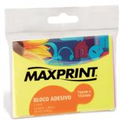 Bloco Adesivo Maxprint 76 X 102mm com 2 Cores Amarelo e Rosa Neon 74168-6
