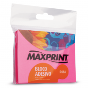 Bloco Adesivo Maxprint 76 X 102mm Rosa Neon 74341-6
