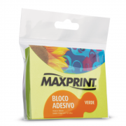 Bloco Adesivo Maxprint 76 X 102mm Verde Neon 74342-1