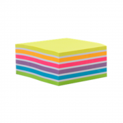 Bloco Adesivo Maxprint 76 X 76mm Cubo Arco-Iris Neon 74486-7