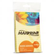 Bloco Adesivo Pautado 148mm x 102mm Amarelo Maxprint