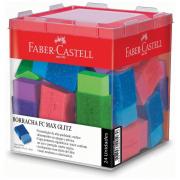 Borracha Plástica TK Pequena Glitz 24 Unidades Faber Castell
