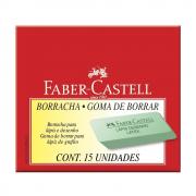 Borracha Escolar Verde Desenho 15 Unidades Faber Castell