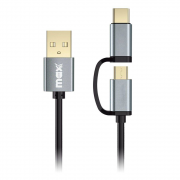 Cabo USB para Android Maxprint 2 em 1 Micro USB e TIPO C 601309-8