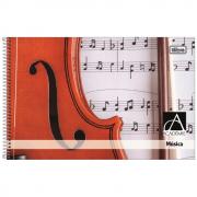 Caderno de Música Tilibra Espiral Capa Dura 96 Folhas Academie