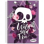 Caderno Universitário São Domingos Feminino Espiral Capa Dura 10 Matérias 200 Folhas Bom D+