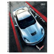 Caderno Universitário Tilibra Espiral Capa Dura 10 Matérias 200 Folhas Camaro & Corvette