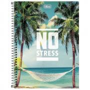 Caderno Universitário Tilibra Espiral Capa Dura 10 Matérias 200 Folhas No Stress