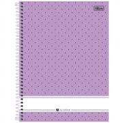 Caderno Universitário Tilibra Espiral Capa Dura 1 Matéria 96 Folhas Académie Feminino