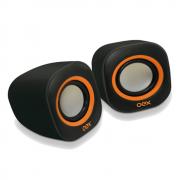Caixa de Som Round SK-100 preto/laranja OEX