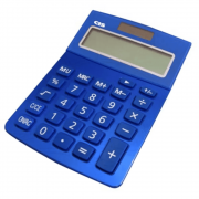 Calculadora de Mesa CIS 12 Dígitos Dual Power C-219 Azul
