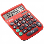 Calculadora de Mesa Elgin 8 Dígitos MV-4131 Vermelha (Solar/Bateria)