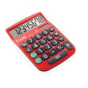 Calculadora de Mesa MV4131 8 Dígitos Vermelha Elgin