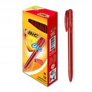 Caneta Esferográfica Retrátil Slim Clic Vermelha com 12 unidades Bic