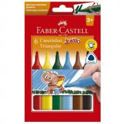 Caneta Hidrográfica 06 Cores Jumbo Triangular Faber Castell