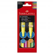 Caneta Hidrográfica 6 Cores Vai e Vem Neon Faber Castell