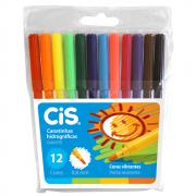 Caneta Hidrográfica CIS 12 Cores ColorCis