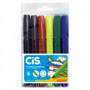 Caneta Hidrográfica CIS Jumbo 06 Cores ColorCis