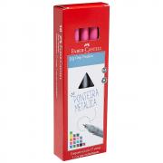 Caneta Hidrográfica Fine Pen Grip Rosa 10 Unidades Faber Castell