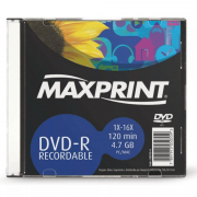 DVD-R 16x 4.7 GB / 120 MIN Slim Maxprint