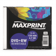 DVD+RW Maxprint 4.7GB 1X-4X 120Min Regravável Slim 50202-2