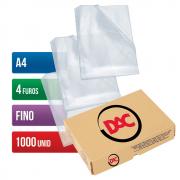 Envelope Plástico A4 4 Furos Fino 1000 Unidades 1178 Dac
