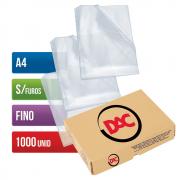 Envelope Plástico A4 Sem Furos Fino 1000 Unidades 069A4 Dac