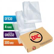 Envelope Plástico Ofício 4 Furos Extra Grosso 300 Unidades 088 Dac