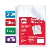 Envelope Plástico Ofício 4 Furos Extra Médio 100 Unidades 5178-100 Dac