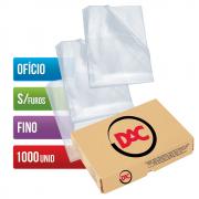 Envelope Plástico Ofício Sem Furos Fino 1000 Unidades 069SF Dac
