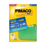 Etiqueta 6087 Ink-jet/Laser Carta 10 Folhas Pimaco