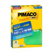 Etiqueta 6187 Ink-jet/Laser Carta 100 Folhas Pimaco