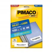 Etiqueta 6282 Ink-jet/Laser Carta 25 Folhas Pimaco