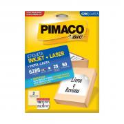 Etiqueta 6286 Ink-jet/Laser Carta 25 Folhas Pimaco