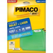 Etiqueta 6287 Ink-jet/Laser Carta 25 Folhas Pimaco