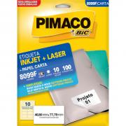 Etiqueta 8099F Ink-jet/Laser Carta 10 Folhas Pimaco