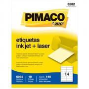 Etiqueta Pimaco 6082 Ink-Jet/Laser 33,9x101,6mm 140un