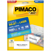 Etiqueta Pimaco 6083 Ink-Jet/Laser 50,8x101,6mm 100un