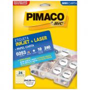 Etiqueta Pimaco 6093 Ink-Jet/Laser 42,33mm 240un