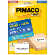 Etiqueta Pimaco 6095 Ink-Jet/Laser 59,27x85,73mm 80un