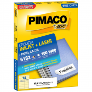 Etiqueta Pimaco 6182 Ink-Jet/Laser 33,9x101,6mm 1400un
