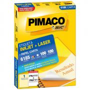 Etiqueta Pimaco 6185 Ink-Jet/Laser 279,4x215,9mm 100un