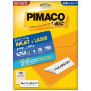 Etiqueta Pimaco 6280 Ink-Jet/Laser 25,4x66,7mm 750un