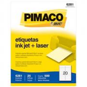 Etiqueta Pimaco 6281 Ink-Jet/Laser 25,4x101,6mm 500un