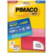 ETIQUETA PIMACO 6284 INK-JET/LASER 84,7X101,6MM C/150UN