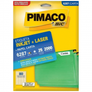 Etiqueta Pimaco 6287 Ink-Jet/Laser 12,7x44,45mm 2000un