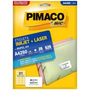 Etiqueta Pimaco A4260 Ink-Jet/Laser 38,1x63,5mm 525un
