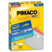 Etiqueta Pimaco A4349 Ink-Jet/Laser 15,0x26,0mm 12600un
